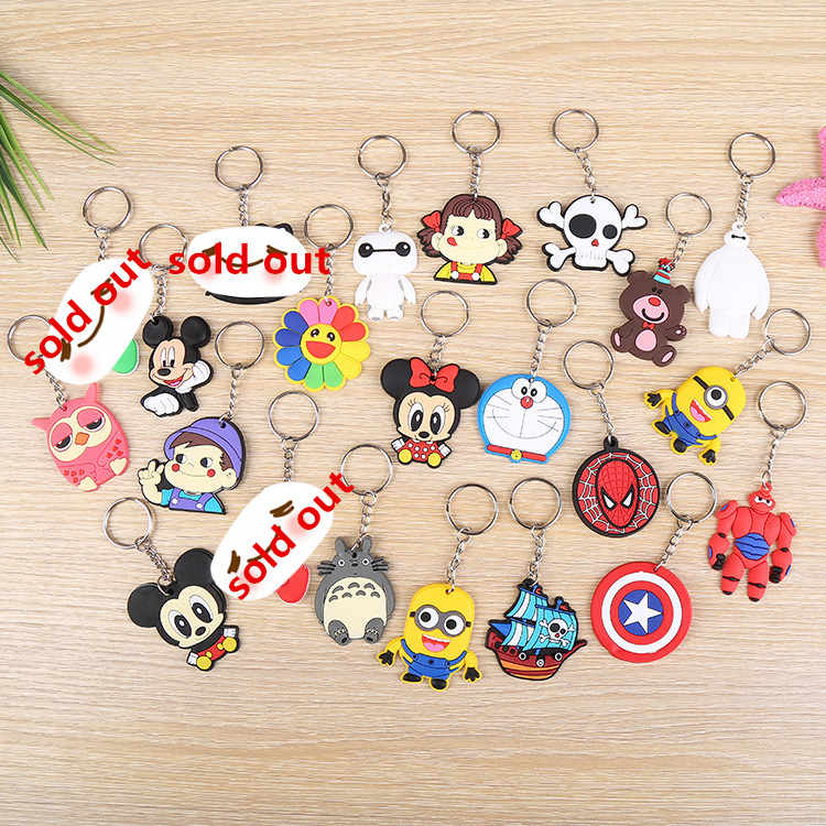 1pcs Cartoon Spiderman owl Brown bear Mickey Minnie Key Holder For Women Kids Key Chains Keyring Bag Straps Chain Gifts Keychain
