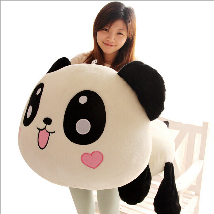 45cm Giant Panda Pillow Mini Plush Toys Stuffed Animal Toy Doll Pillow Plush Bolster Pillow Doll Valentine's Day Gift Kids Gift stuffed animal toy store panda plush panda kids toys cute football panda doll baby gifts