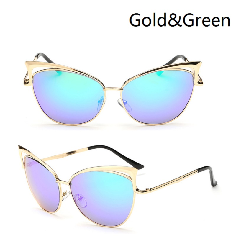 Óculos de sol Das Senhoras Das Mulheres óculos de Sol Olho De Gato Mulheres  óculos de Sol Da Liga Quadro UV400 Proteção óculos de Marca Designer Retro  ... b80d3743ad