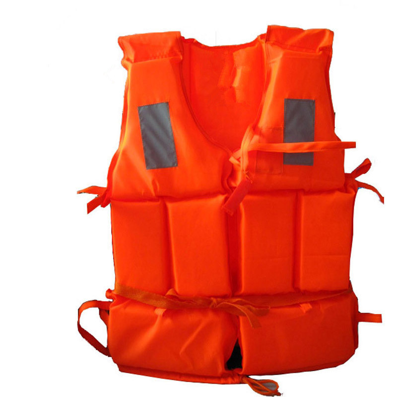Adult Life Jacket Vest Water Sports Foam Life Jacket Polyester For Drifting Boating Swimming Water Ski Surfing With Whistle