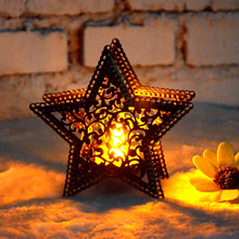 Candlestick Light Bar-Decoration House-Shop Moroccan Star for Christmas Colorful Five-Pointed