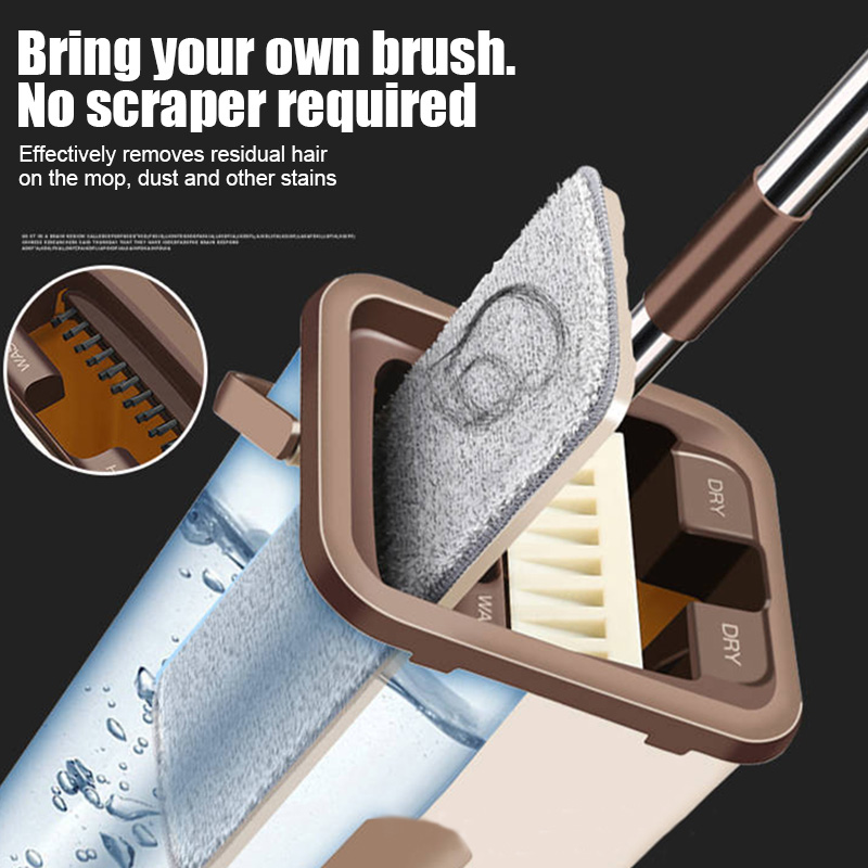 Newly Dust Wizard Mop Cleaning Tool Kit 360 Degree Rotating Tile Marble Floor for Living Room Kitchen(China)