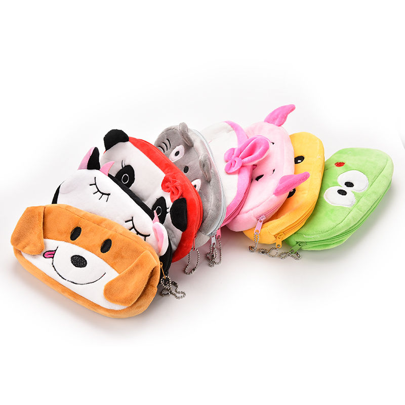 1PCS Cute Animal Cartoon Plush Coin Bag Case Pouch