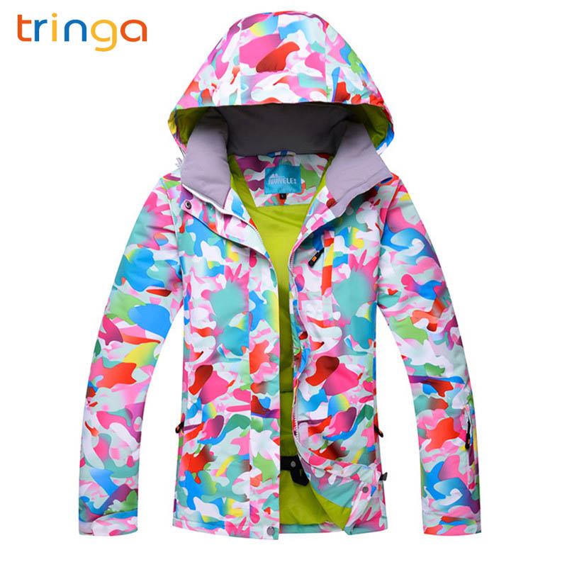 TRINGA 2018 High Quality Women Ski Suit Brands Winter Warm Waterproof Windproof Clothes Skiing Snowboarding Snow JacketsTRINGA 2018 High Quality Women Ski Suit Brands Winter Warm Waterproof Windproof Clothes Skiing Snowboarding Snow Jackets