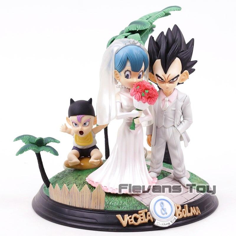 Dragon Ball végéta Bulma jour de mariage avec troncs bébé PVC Statue Figure de collection modèle jouet