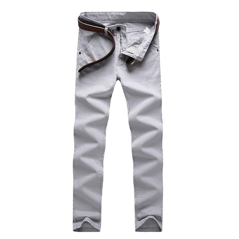 Fashion Men Business Casual Pants Cotton Slim Straight Trousers Spring Summer Long Pants -MX8