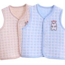 Детский жилет, зимний хлопковый осенний и зимний детский жилет, теплый жилет для мужчин и женщин, жилет для новорожденных