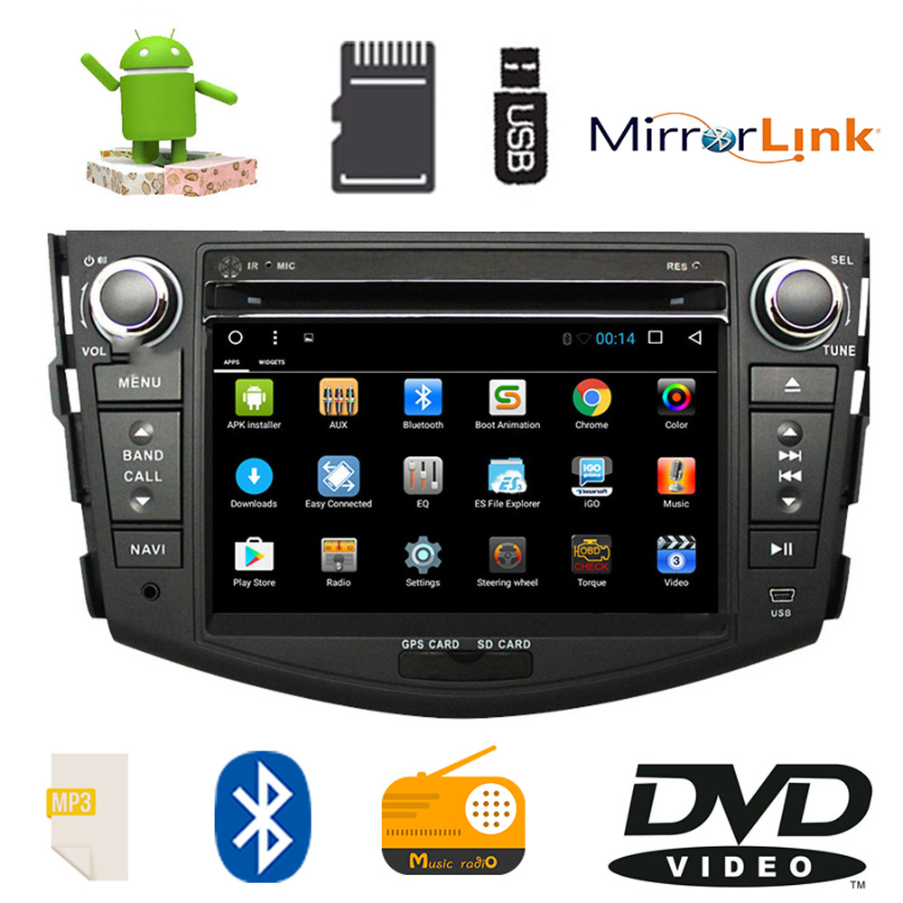 Android 9.1 7'' 2Din Car DVD Player for Toyota Rav4 RAV4 Car Radio Audio Stereo GPS Navigation Audio Video Player Mirror Link