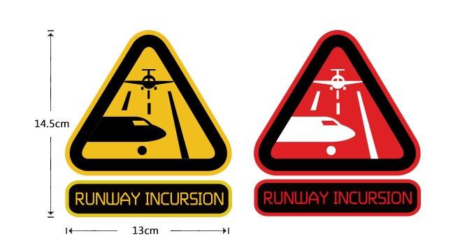 Творческий Декоративные взлетно-посадочной полосы вторжение Рекомендуемые Предупреждение признаки Светоотражающие Наклейки для автомоб...