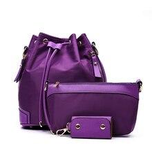 3 шт./компл. женщин рюкзак 2017 мода нейлоновый рюкзак женщин сумки многофункциональный