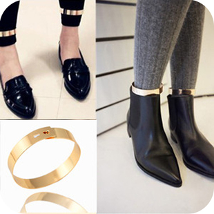 Fashion foot bracelet jewelry Vintage metal smooth gold ankle bracelet sexy anklet anklets for women wholesale