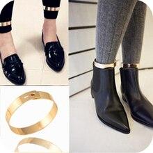 Мода для ног браслет ювелирные винтаж металл гладкий золотой лодыжке браслет сексуальная браслет на лодыжку браслеты для женщин оптовая продажа 1 пара