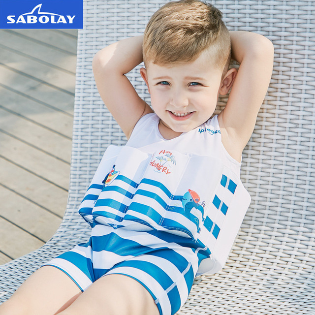 990dff103b SABOLAY 21 Styles for Boys Girls Floating One-piece Suit Vest Buoyancy  Swimwear Children Detachable Swimsuits Kids Swimming Pool