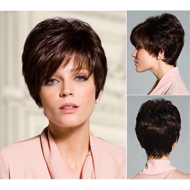 Medusa Hair Products Chic Short Pixie Cut Styles Brown Wig With