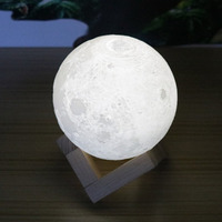 ICOCOที่มีสีสัน3Dพิมพ์ดวงจันทร์โคมไฟเปลี่ยนสีข้าง