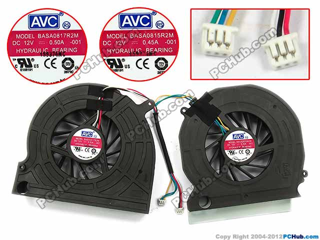AVC BASA0817R2M, -001 DC 12V 0.50A 6-wire 6-pin Server Laptop Fan free shipping for sunon eg50040v1 c06c s9a dc 5v 2 00w 8 wire 8 pin server laptop fan