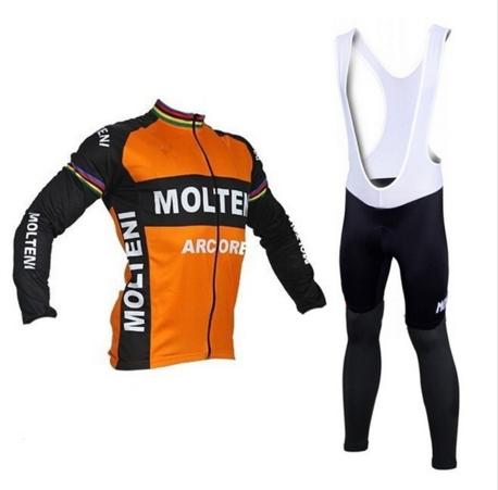 Molteni cycling suit long sleeve sportwear Autumn/Pro Mtb Long Sleeves Cycling suit Clothing clothes Bike/orange black