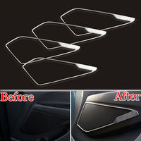 4Pcs Stainless Car Door Speaker Audio Ring Cover Trim For Hyundai Tucson 2016