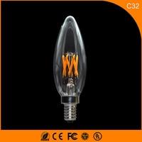 5PCS 3W E12 E14 LED Bulbs C32 LED Filament Candle Bulbs 360 Degree Light Lamp Vintage