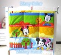 Promotion! Kitty Mickey cotton 62*52cm Baby Bed Hanging Storage Bag Style Fashion And Comfotable,crib bedding set