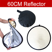 Track Number + 60cm Photography Studio Reflector  gold and silver double sided soft board camera photography reflectors