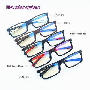 Image 3 - Hezekiah monture de lunettes Vintage pour hommes et femmes, 2019 étiquette de styliste, monture dordinateur rétro, métal, myopie, nerd 0512