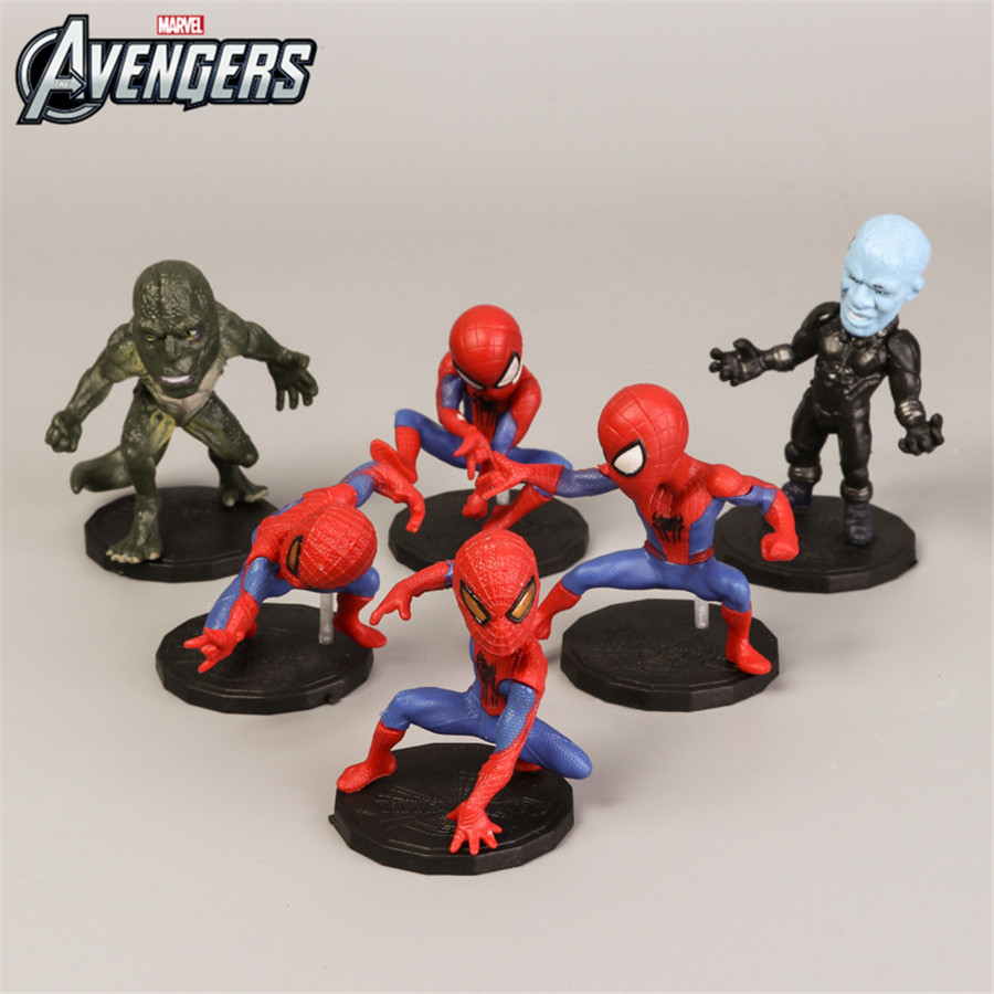 10cmx5cm Mini Spider Man Avengers Dinosaur Male Nightghost Figure Set Superhero Spider-man Boys Toy Pvc Model Collection Kid Toy With A Long Standing Reputation Toys & Hobbies