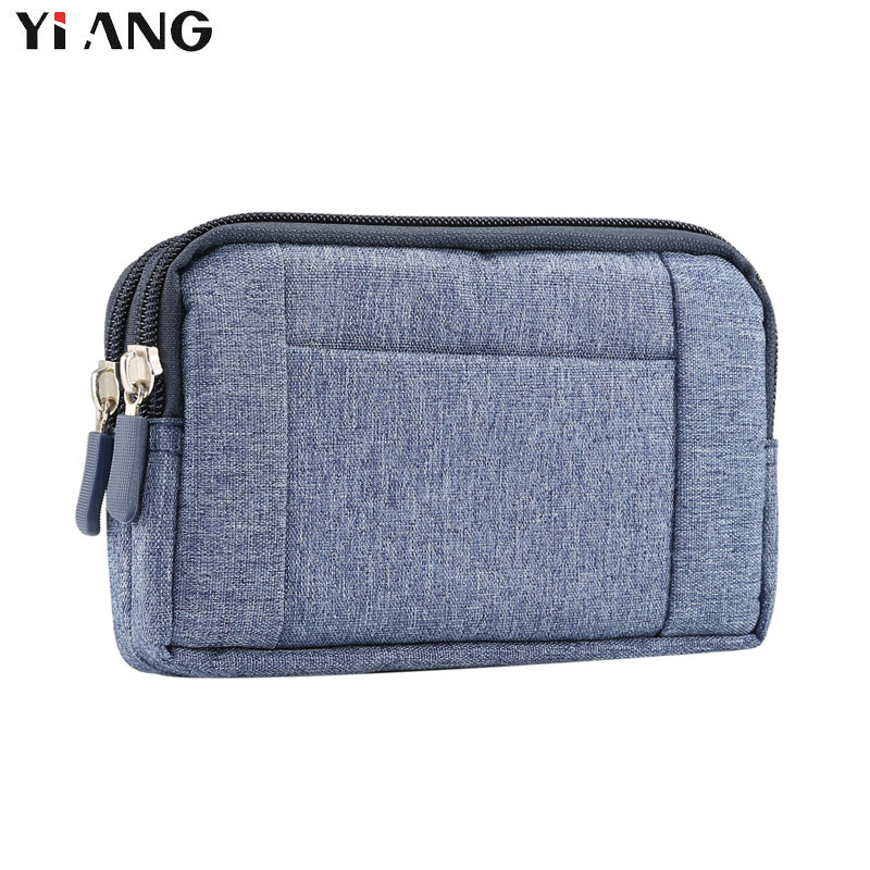 YIANG Casual Fanny Pack For Women Men Waist Bag Cowboy Cloth Unisex Waistbag For Phones Belt Bag Zipper Pouch Packs XL L S Size
