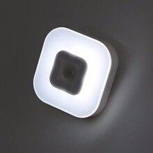 Lampe de nuit intelligente avec détecteur de mouvement PIR (PIR), à Induction, LED corps humain, éclairage de nuit, économie dénergie, modèle AAA