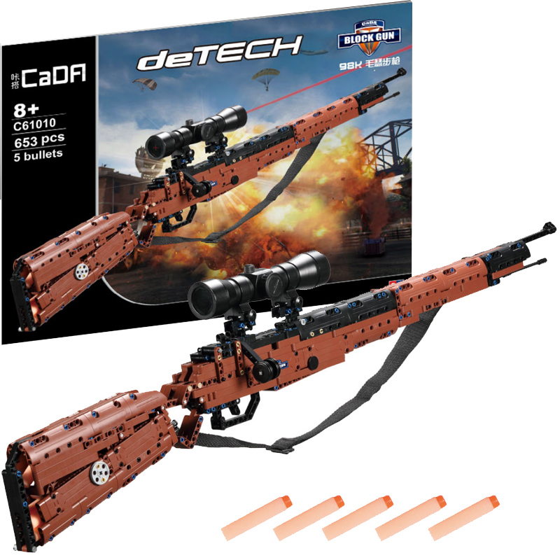 Can Shoot Soft Bullet LegoINGs Block Gun Military DIY 653pcs Building Blocks Bricks Weapon Model Educational Toys for Children цена