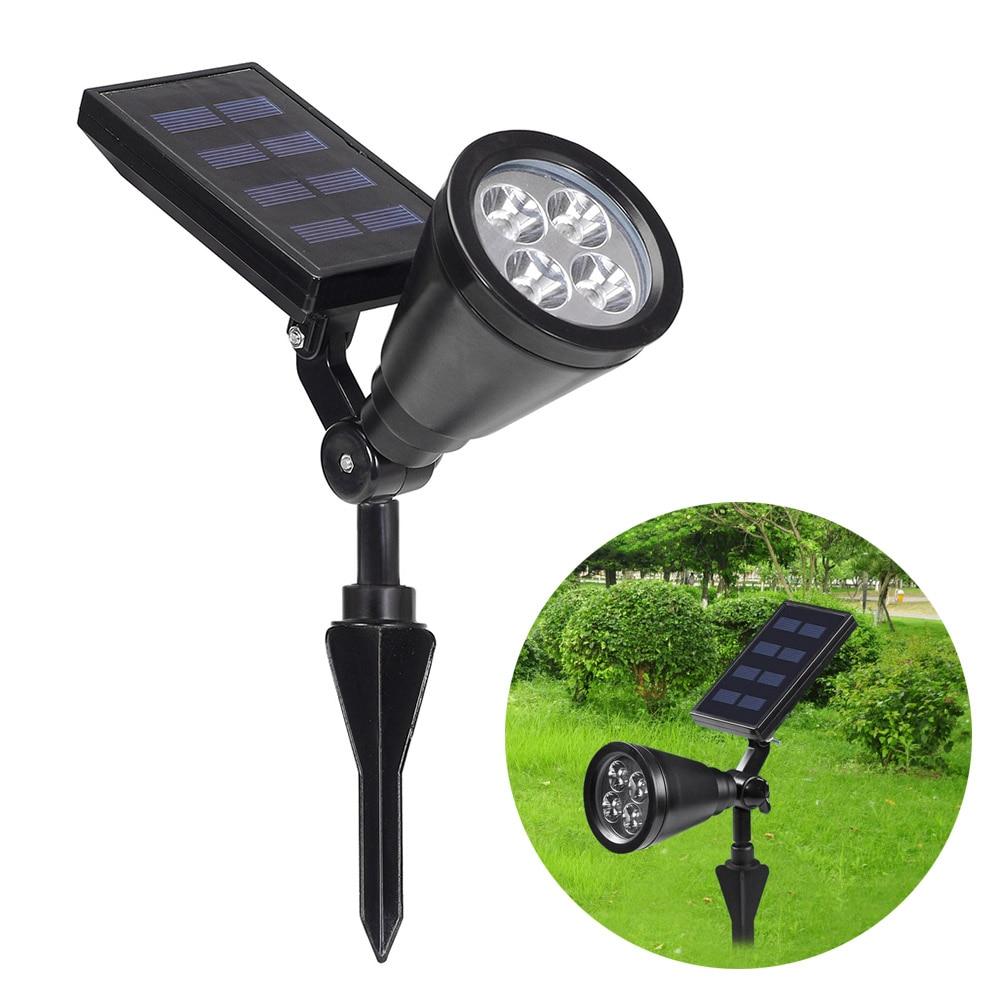 Newest Outdoor Garden Led Solar Light Outdoor 4 LEDs Solar Power Spotlight Lawn Lamp Landscape Spot Lights 2016 --