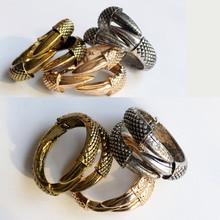 Fashion  Eagle claw dragon open bracelets & personality punk wind snake bracelet men women trendy gift Jewelry