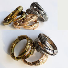 Fashion Eagle claw dragon claw open bracelets & personality punk wind snake bracelet men women trendy gift Jewelry(China)