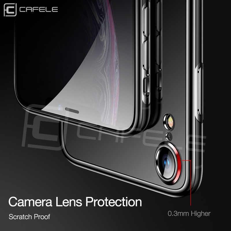 Cafele יוקרה TPU מקרה עבור iPhone XR מקורי שקוף רך Case כיסוי עבור iPhone XR מקרה ברור