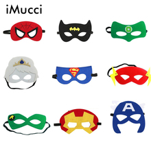 iMucci 1PC Superhero Mask Cosplay Superman Batman Spiderman Hulk Thor Ironman Halloween Christmas font b kids