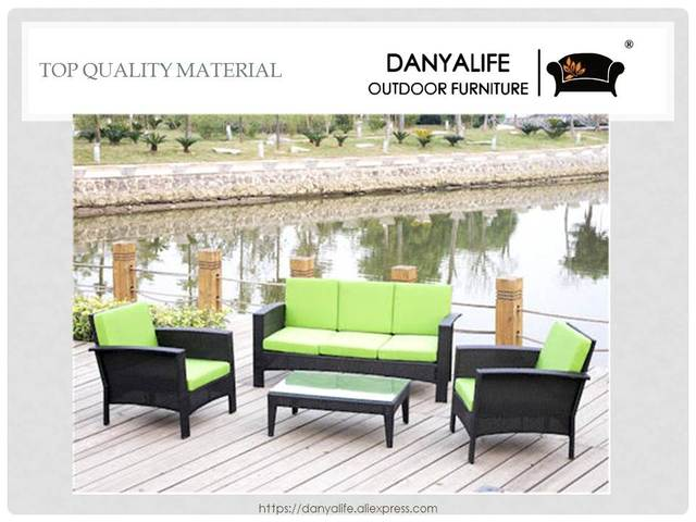 DYSF D4503 Danyalife High End Villa Backyard Poly Rattan Sofas