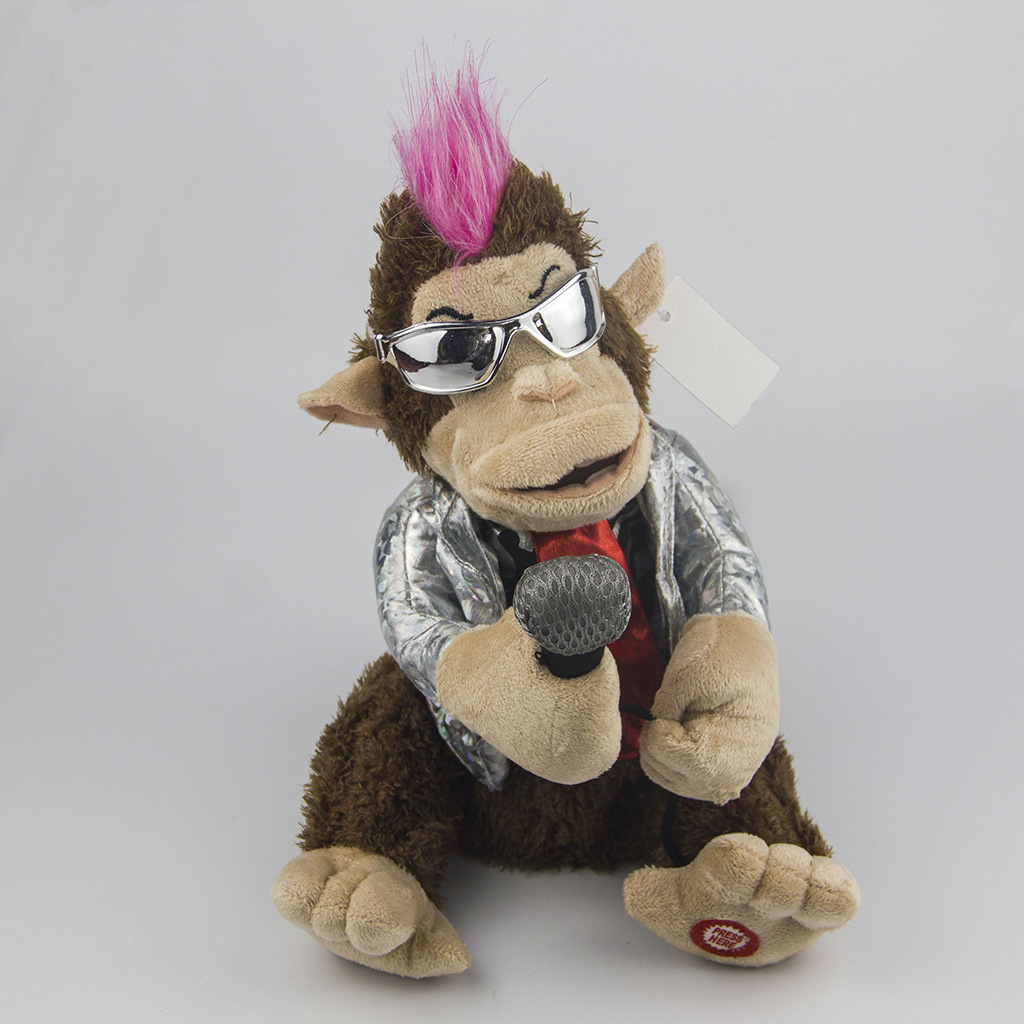 Electric Plush Toys Creative Doll Get Microphone Will Sing Karaoke Monkey Funny Toys