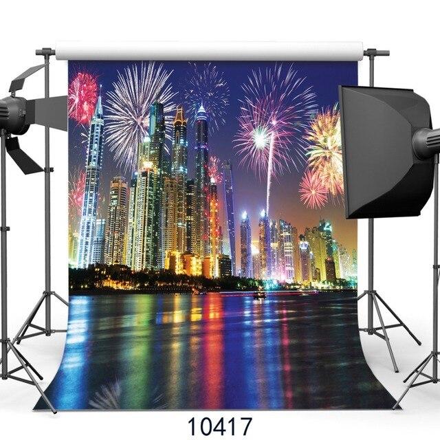 new years background city night fireworks background photography backdrops photo background fond studio photo vinyle sjoloon