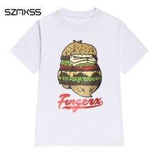 SZMXSS 2017 Summer T-Shirts Fashion Women's Short Sleeve Super Cute Cotton Animal Print T-Shirt White Tops Cool Hipster Tees