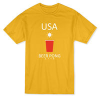 USA Beer Pong 1776 Red Plastic Beer Cup Graphic Men S T Shirt