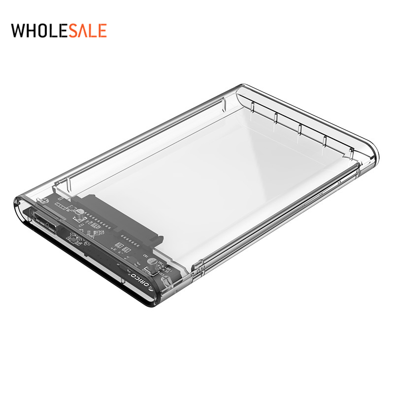 Orico 2.5 USB 3.0 SATA Hd Box HDD Hard Disk Drive External HDD Enclosure Transparent Case Tool Free 5 Gbps Support 2TB orico 9528u3 2 bay usb3 0 sata hdd hard drive disk enclosure 5gbps superspeed aluminum 3 5 case external box tool free storage