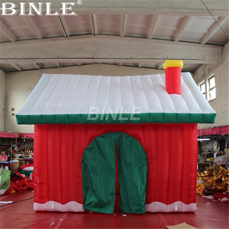все цены на Pretty Outdoor Inflatable Christmas House With Chimney christmas tent decoration inflatable Santa Claus house for Eve parties