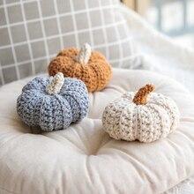 Bonita calabaza Vintage accesorios de decoración del hogar planta de ganchillo de algodón bebé niños decoración de la habitación de la cama figuritas de visualización foto Shot