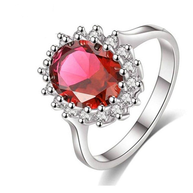 Anenjery роскошные свадебные кольца три Цвета AAA Циркон Драгоценного Камня подсолнухи корона принцессы кольца T-R34