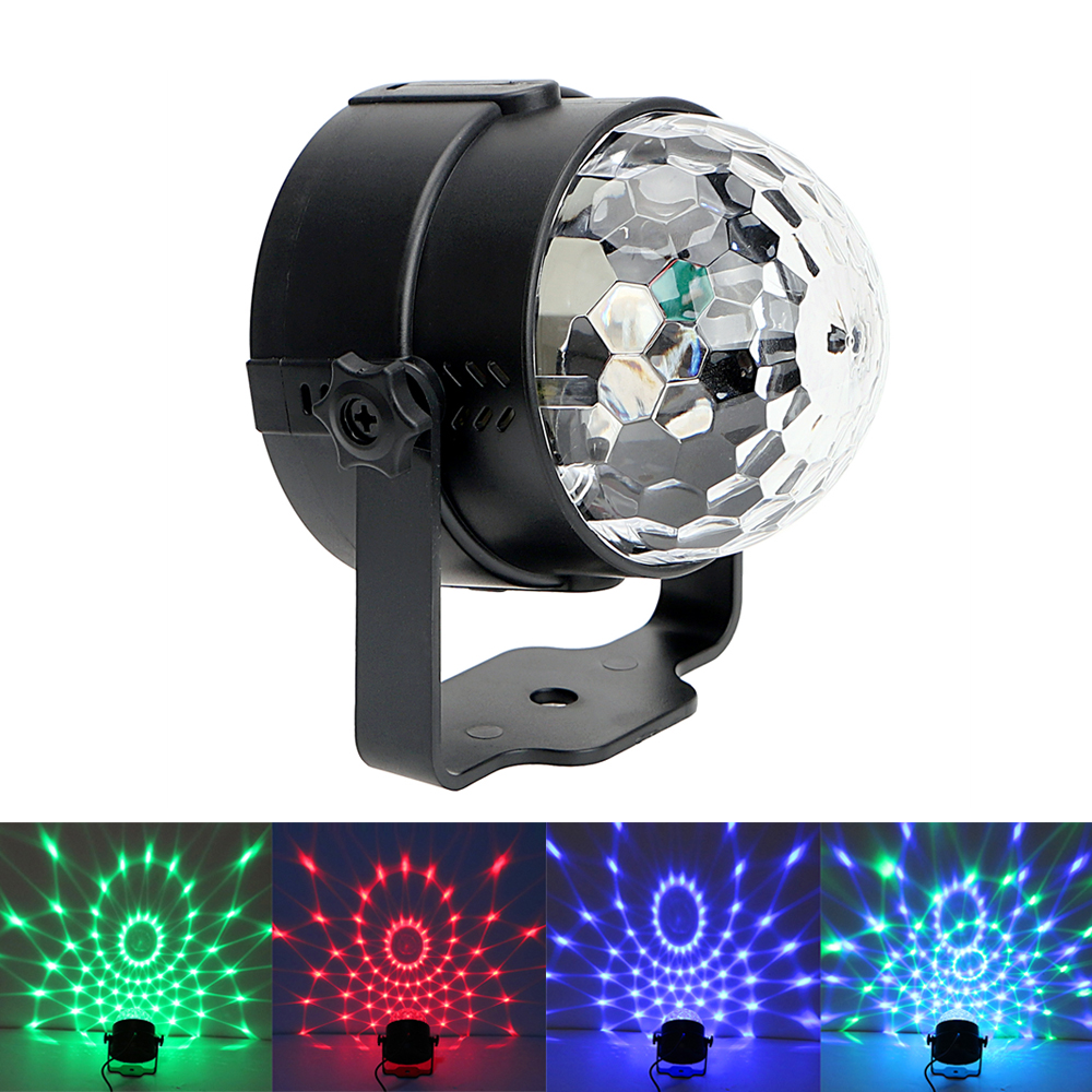 iTimo IR Remote RGB LED Crystal Magic Rotating Ball Colorful Stage Light for Bar Pub KTV Party Effect DJ Club Disco Lamps [mingben] led bulb e27 rgb stage 16 colorful change lamp spotlight 110v 127v 220v home party wedding with ir remote