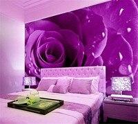 العرف صور حديث بسيط الطازجة الفن بلاط الحائط الأرجواني ارتفع نوم غرفة المعيشة جدار ديكور المنزل اللوحة خلفيات