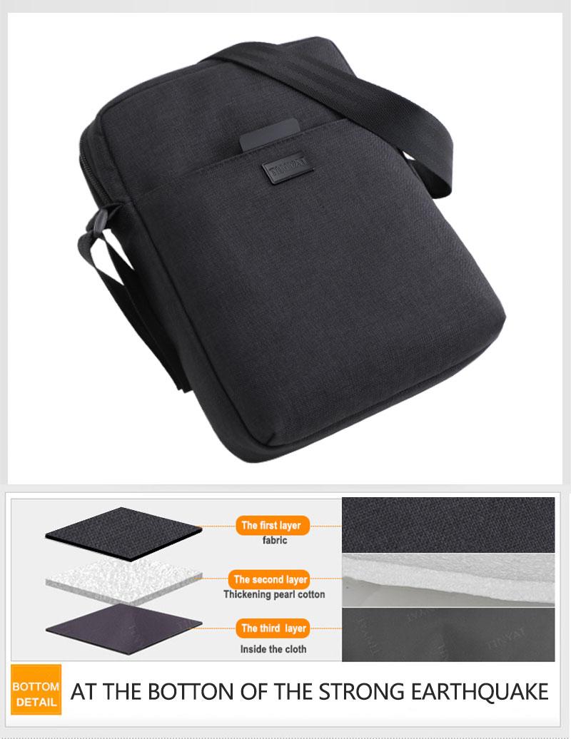 TINYAT Light Canvas Men's Shoulder Bag For 7.9' Ipad Casual Crossbody Bag Waterproof Business Shoulder bag for men 0.13kg 14