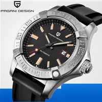 Reloj Mecánico de diseño PAGANI para hombre, marca de lujo, de cuero genuino, reloj automático para hombre, reloj masculino, reloj saat