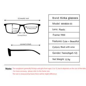 Image 5 - Kirka Kinderen Brillen Tr 90 Kids Optische Brilmontuur Flexibele Brilmonturen Voor Kids Brilmonturen TR90 Unisex Solid