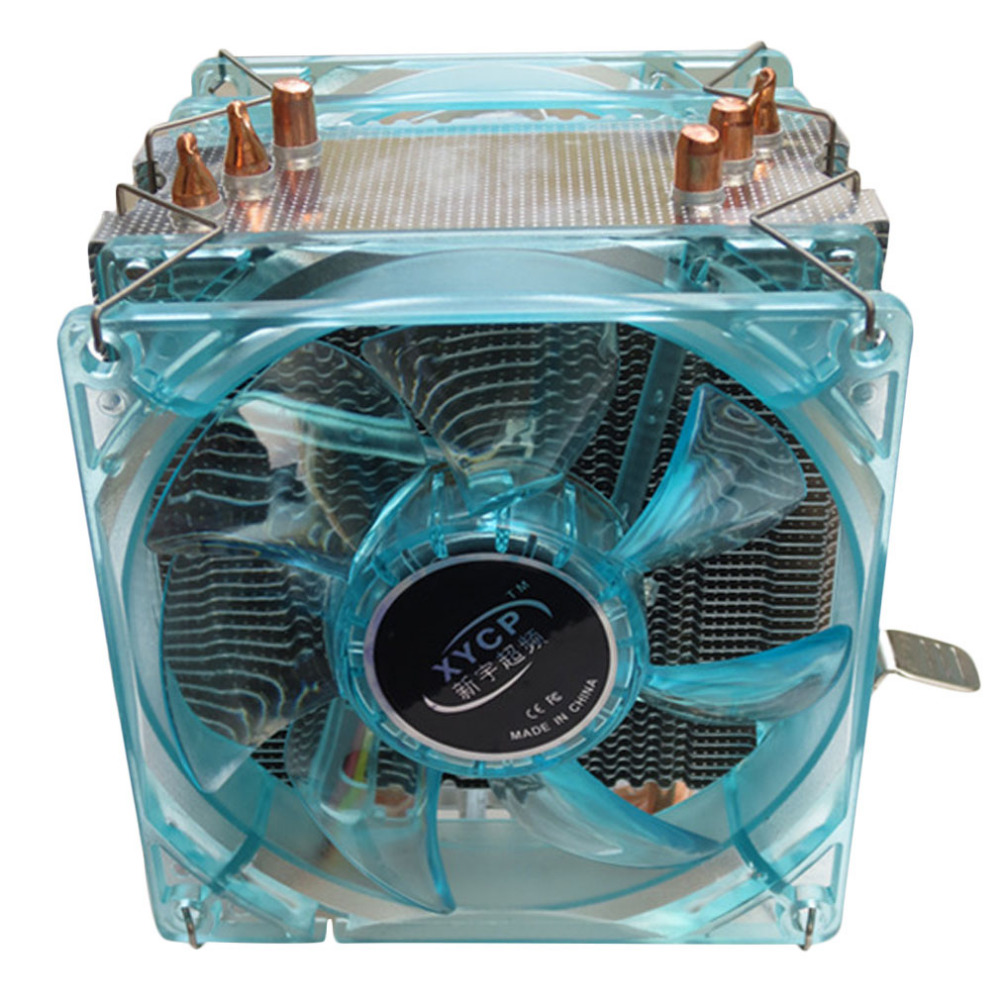 Professional Dual Fan CPU Cooler Heat Sink Radiator with LED Light Mute Version Suitable for Intel for AMD 3 Copper Tubes alseye eddy 120r computer desktop cpu radiator brass dual fan led light 12cm heat sink 4pin
